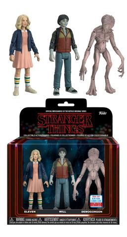 Action Figures: Stranger Things - Eleven with Wig, Upside Down Will & Demogorgon 3-pack