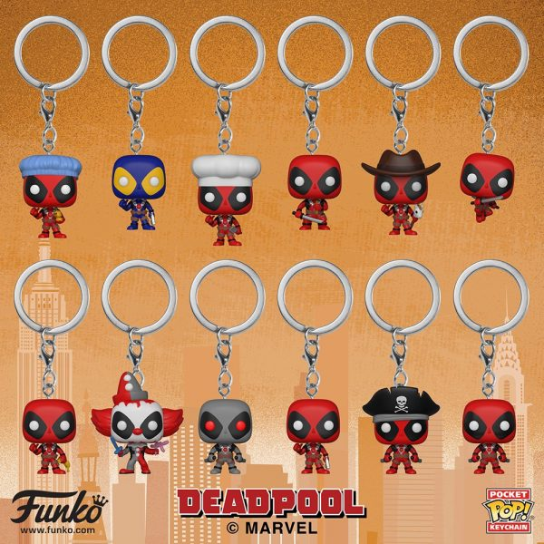 NYTF Deadpool Keychains