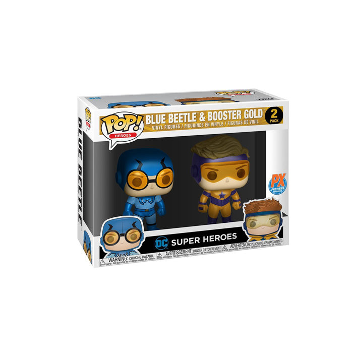 Blue Beetle and Booster Gold Funko Pop 2pack