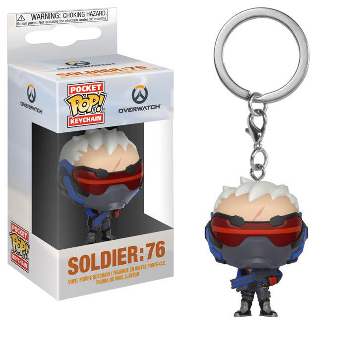 Soldier 76 Funko Pocket Pop Keychain