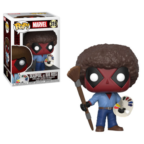 Deadpool as Bob Ross Funko Pop