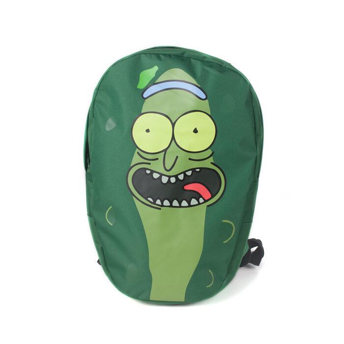 Pickle Rick Shaped Backpack