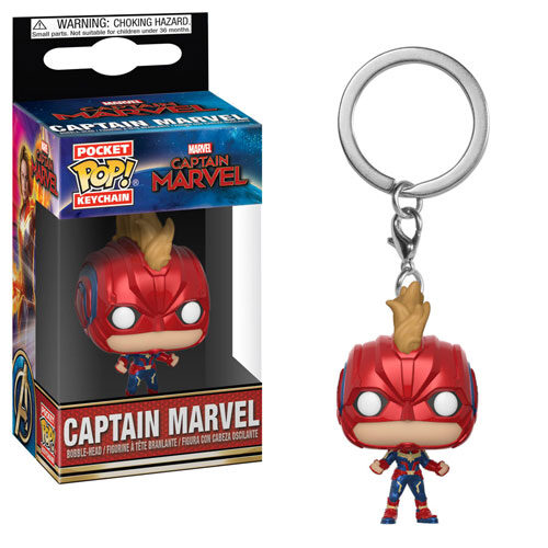 Captain Marvel with Mask Pocket Pop Keychain Funko