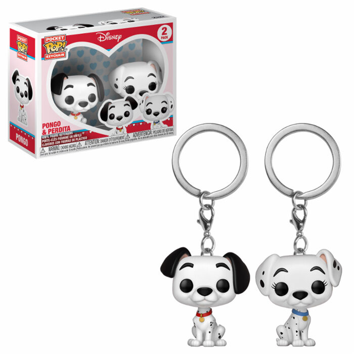 Pongo & Perdita Funko Pocket Pop Keychain 2 pack