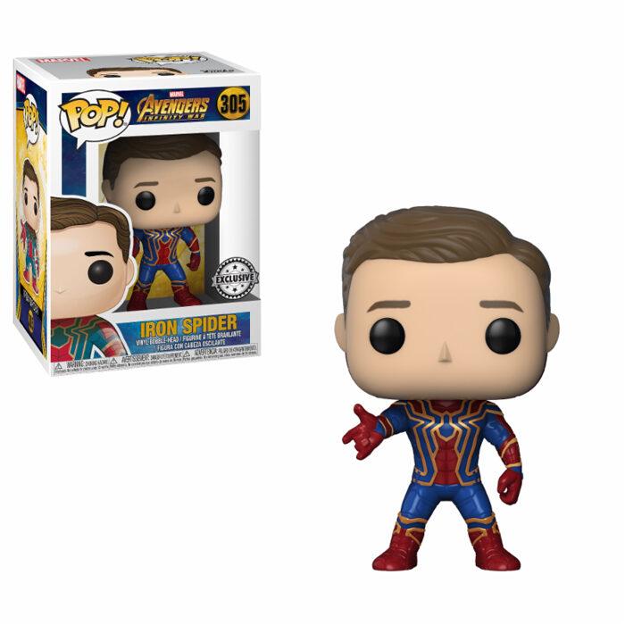 Iron Spider Unmasked Exclusive Funko Pop