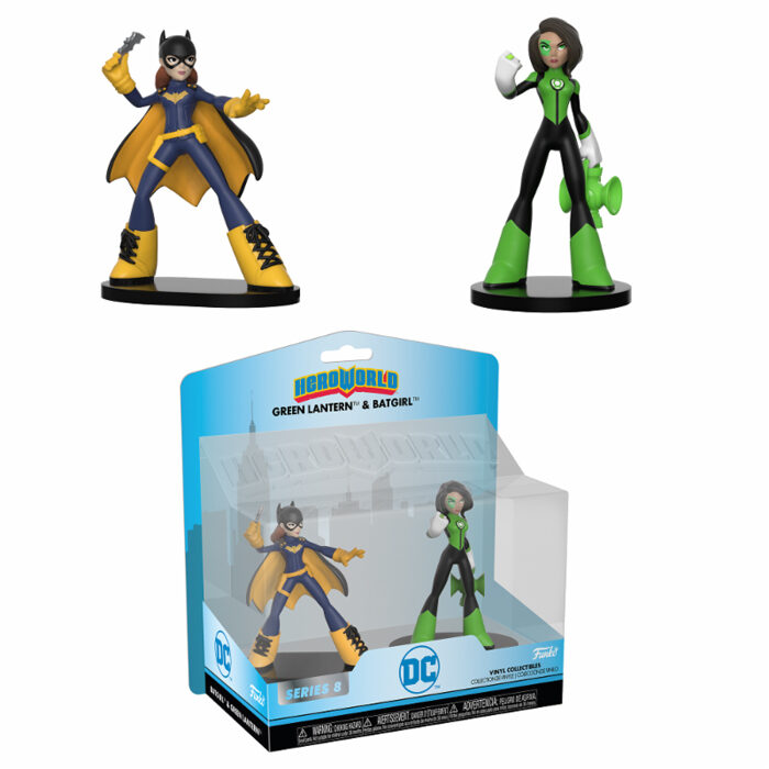 Batgirl and Green Lantern HeroWorld Funko Figures
