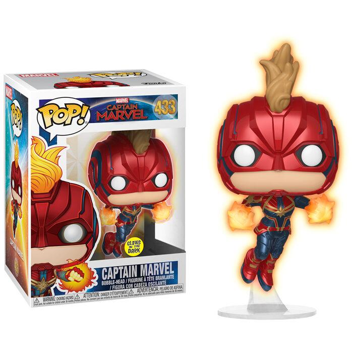 Flying Captain Marvel Glow in the Dark Funko Pop