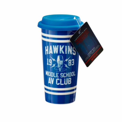 Hawkins AV Cluv Stranger Things Lidded Mug