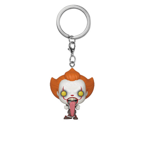 pennywise with dog tongue pocket pop keychain