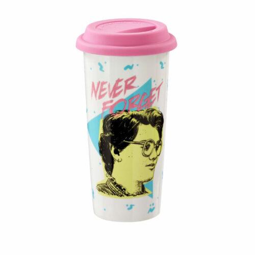 Barb Never Forget Lidded Mug Stranger Things