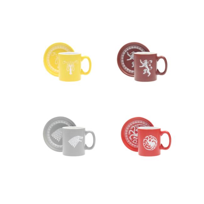 game of thrones 4 espresso mugs set