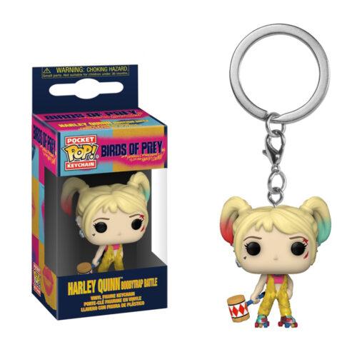 Harley Quinn Boobytrap Battle Pocket Pop Keychain