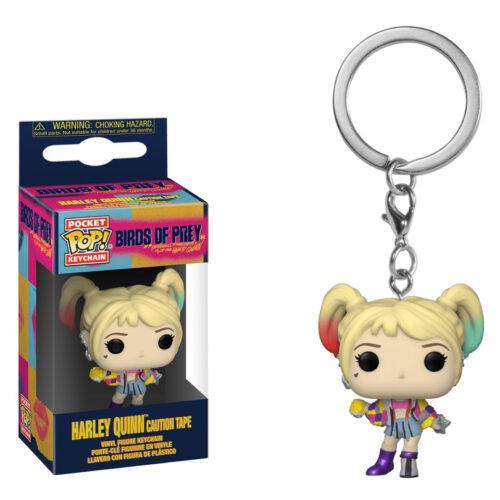 Harley Quinn Caution Tape Pocket Pop Keychain