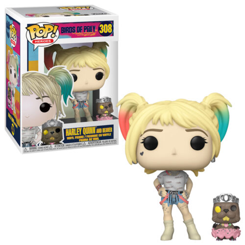 Harley Quinn with Beaver Funko Pop