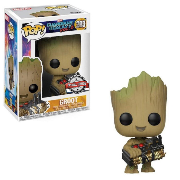 Groot with Bomb Funko Pop