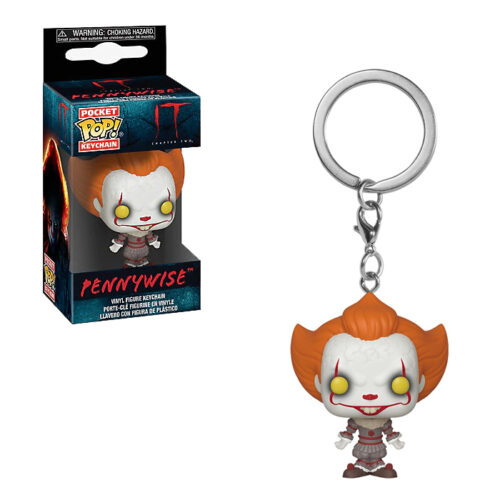Pennywise with open arms pocket pop keychain