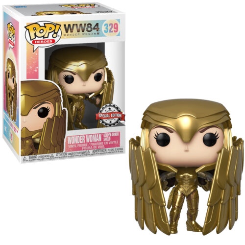 Wonder Woman Golden Armor Shield (Metallic) Funko Pop