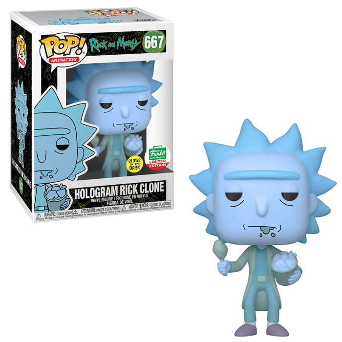 Funko Pop Funko Shop Special Edition Rick And Morty Hologram Rick Clone