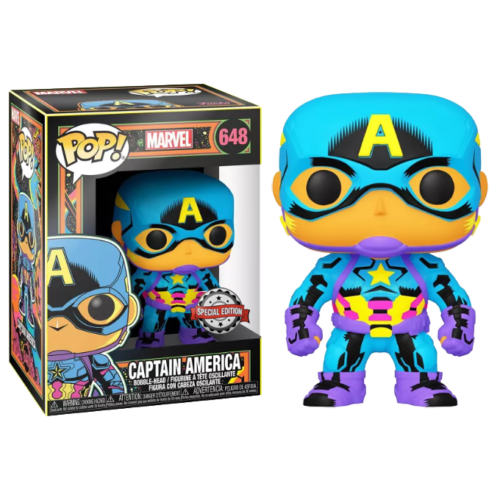 Captain America Black Light Funko Pop