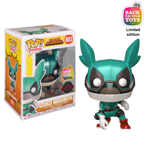Deku with Helmet Metallic Funko Pop
