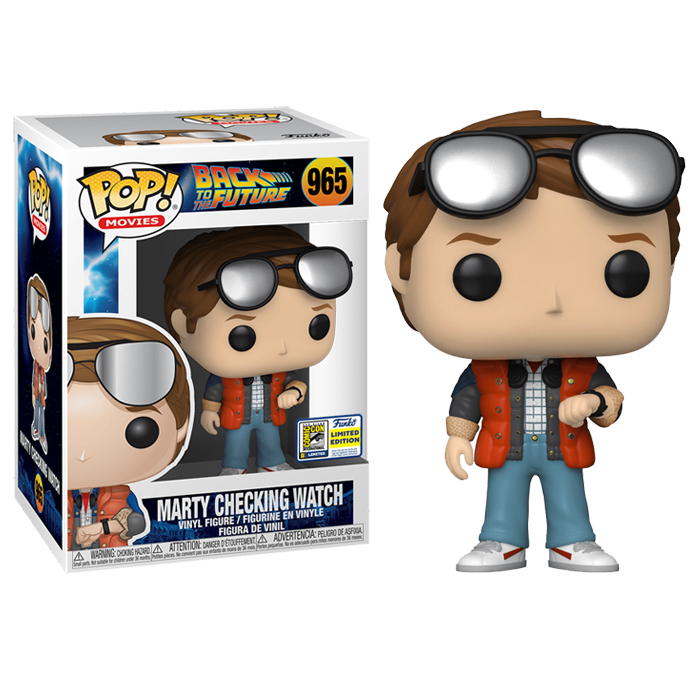 Marty Checking Watch SDCC Funko Pop